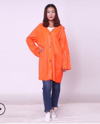 Women Men Waterproof Jacket Clear PVC Raincoat Rain Coat Hooded Poncho Rain Wear