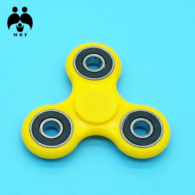 MBF Brand Triangle Yellow Color Fidget Spinner