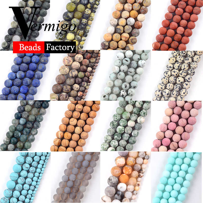 Natural Dull Polished Agates Tiger Eye Jades Round Stone Beads For Jewelry Making Spacer Beads 4-12mm Diy Necklace Bracelet 15''