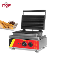 ITOP Electric Churros Maker Stainless Steel 1500W Commercial Churros Filler Non-Stick Coating Waffle Latin Fruit Machine xeoleo churros maker single head churros machine churros baker fritters maker latin fruit machine 1500w 220v stainless steel