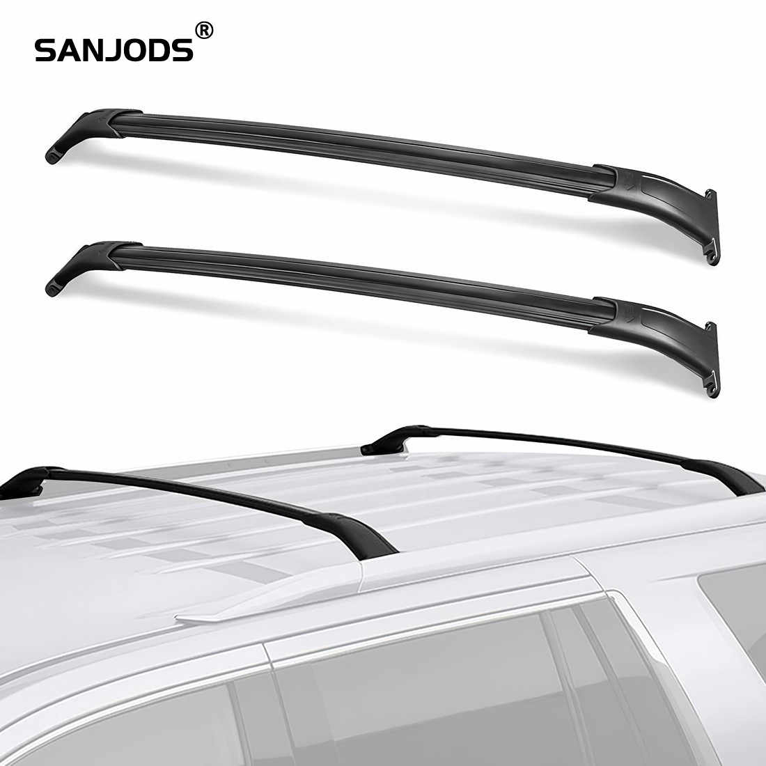 Sanjods Roof Rack For Cadillac Escalade Esv Chevy Tahoe Gmc Yukon Xl 2015 2016 2017 2018 2019 2020 Pair Roof Rack Rail Cross Bar Roof Racks Boxes Aliexpress