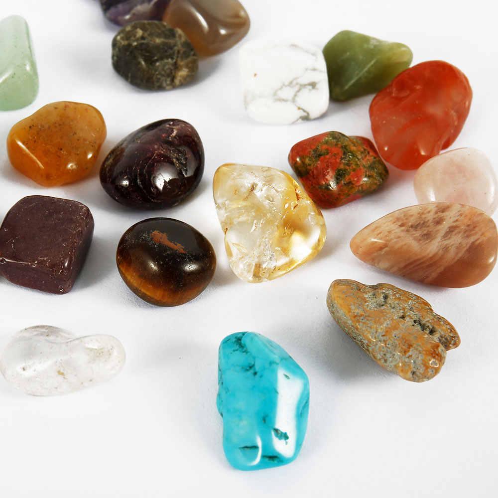 """20 шт драгоценный камень, камень коллекция микс драгоценные камни Кристаллы натуральный минеральный руды образцы драгоценных камней с коробкой украшения домашний декор """"сделай сам"""""""