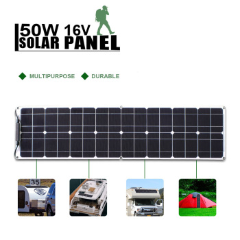 Panel Solar Flexible, batería Solar de marca, 50W, 12V, 100w, para pesca, barco, cabina, Camping 1