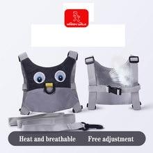 Novo estilo do bebê bonito dos desenhos animados tração cinto anti-perdido com crianças corda de segurança criança cinta arnês criança respirável confortável