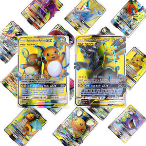 300 Pcs no repeat Pokemon GX card Shining TAKARA TOMY Cards Game Battle Carte Trading Children Gift Toy
