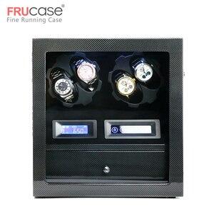 Image 1 - FRUCASE ملفاف ساعة صندوق ساعة عرض ساعة خزانة ساعة جامع تخزين مع شاشة LED باللمس عرض 4 + 5