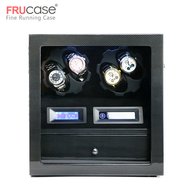 FRUCASE ملفاف ساعة صندوق ساعة عرض ساعة خزانة ساعة جامع تخزين مع شاشة LED باللمس عرض 4 + 5