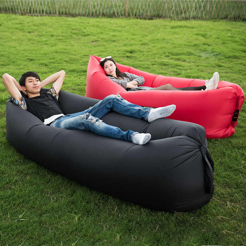 Lightweight Inflatable Bag Lounge Chair Sofa Bed Camping Hiking Beach