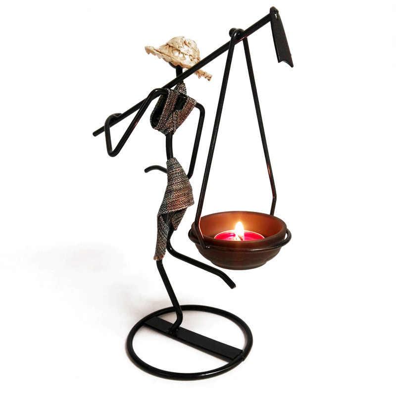 Кантри стиль женская модель подсвечники железный подсвечник Ночной светильник