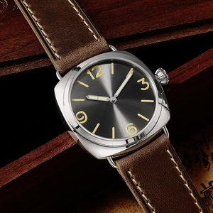 Image 2 - San Martin Stainless Steel Fashion Simple Automatic Mens Mechanical Watch Holvin Leather Strap Relojes 200M Water Resistant