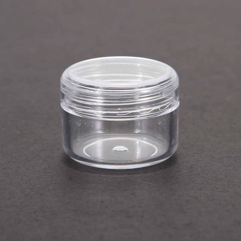 1Pcs Mini Cosmetic Empty Jar Pot Eyeshadow Makeup Face Cream Container Nail Art Cosmetic Bead Storage Pot Container