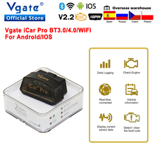 Vgate iCar 프로 블루투스 4.0 OBD2 자동차 진단 스캐너 OBD 2 WIFI elm327 자동 스캔 도구 ODB2 안 드 로이드/IOS PK ELM 327 V 1 5