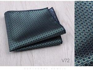 Image 5 - Mouchoir coloré vert, bleu, costume carré Floral, poches, pour affaires, fête, mariage et loisirs, accessoires à main, nouvelle mode