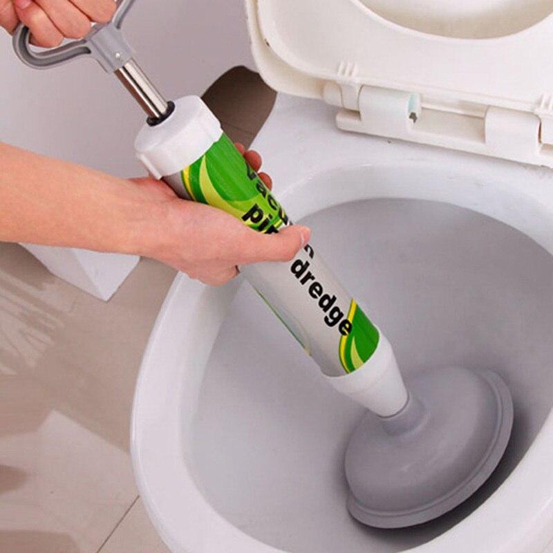 Household Bathroom Toilet Plunger High Pressure Powerful Manual Sink Plunger Dredge Toilet Aerodynamic Drain Cleaning Pump