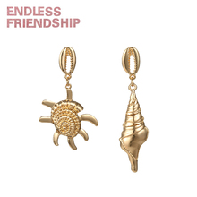 Endless Friendship Hot Sea Animal Earring Jewelry Seastar Seashell Charms Pendant Earrings for Women Summer Beach Accessories