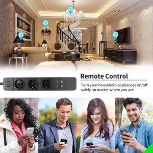 Image 5 - Wifi Power Strip Surge Protector Eu Stopcontacten Timer Voice Afstandsbediening Werkt Met Echo Alexa Google Thuis