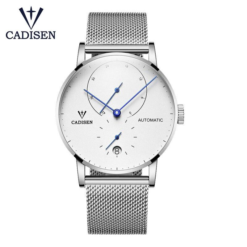 CADISEN Top hommes montres Top marque de luxe automatique mécanique montre hommes plein acier affaires étanche mode Sport montres