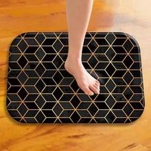 Геометрическая решетка, искусственный коврик, коралловый флисовый ковер, цветной резиновый коврик, нескользящий ковер, украшение для спальни ..