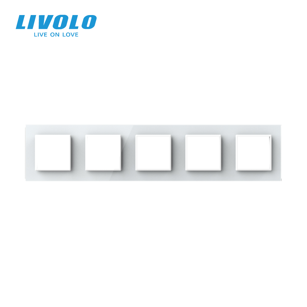 lowest price Free Shipping Livolo White Plastic Materials EU  Standard DIY Parts Function Key For USB SocketVL-C7-1USB-11  4 Colors