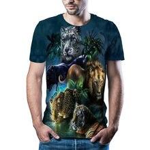 2021 última camiseta de diseño de tigre 3D camiseta de verano para hombre camiseta de marca con estampado animal camiseta de man