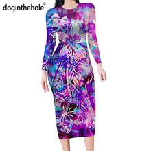 Doginthehole фиолетовый галстук краситель с Гавайскими мотивами