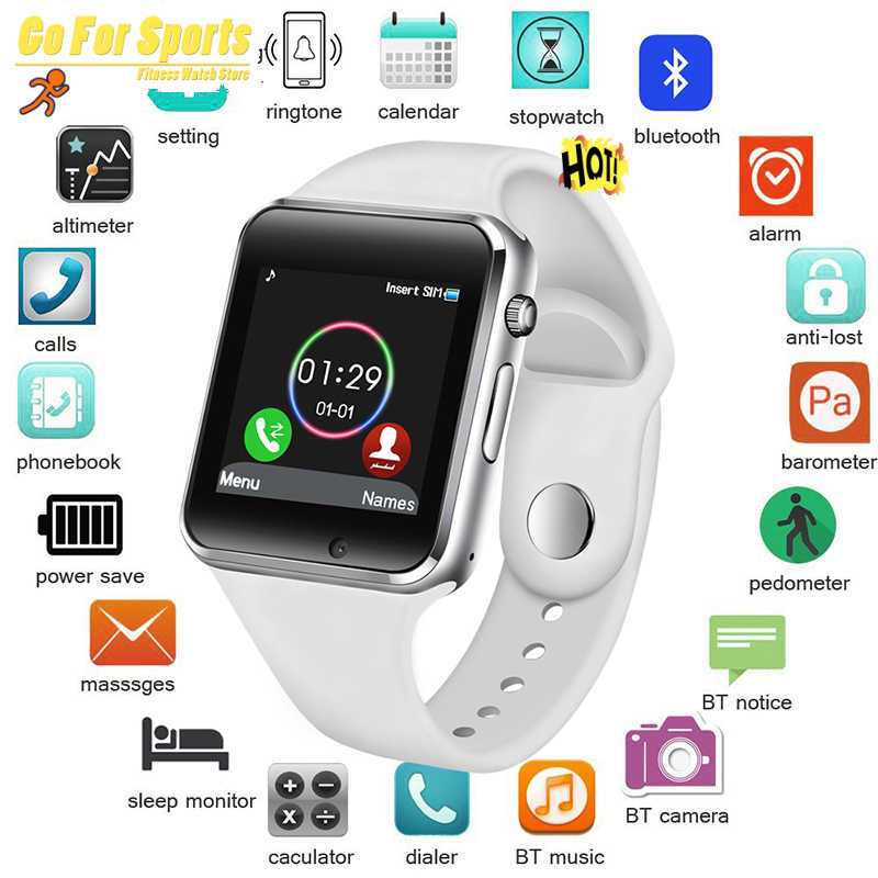 Free Shipping 2019 WristWatch Bluetooth Smart Watch Sport Fashion with SIM Camera Smartwatch for Android Smartphone Russia T50
