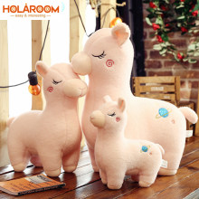 New Alpaca Pink White Toys Kawaii Stuffed Toys 25/30/45cm Cartoon Alpaca Doll Toys For Christmas New Year Children Kids Gift(China)