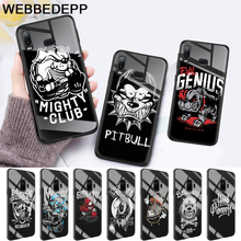 Pit Bull Lovely Pet Dog Glass Case for Samsung S7 Edge S8 S9 S10 Plus A10 A20 A30 A40 A50 A60 A70 Note 8 9 10