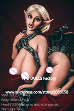 NIEUWE WMDOLL 150cm Top Kwaliteit M Cup Enorme Kont Volwassen Sekspop Elf Levensechte Liefde Poppen Siliconen Borstprothese seksuele Mannequin