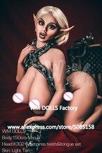 Nowy WMDOLL 150cm najwyższej jakości M Cup ogromne tyłek seks lalka dla dorosłych Elf realistyczne lalki miłości silikonowe sztuczne piersi seksualny manekin