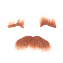 3pcs Novelty Halloween Costumes Self Adhesive Fake Eyebrows Beard Moustache Kit Facial Hair Cosplay Props Disguise Decoration