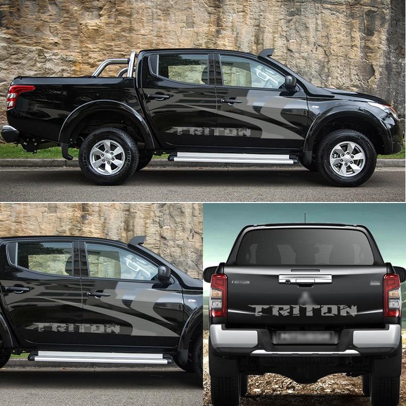 Car Accessories 3 Pieces Car Body 、tail  Door Personalized Graphic Vinyl Car Sticker Fit For Mitshibish L200 Triton 2015-2019