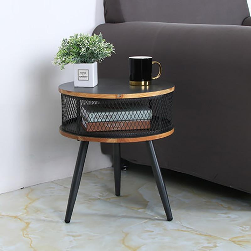 Nordique petite Table basse bureau salon canapé côté coin chambre Rack créatif rangement petite Table ronde bureau
