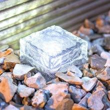 Наземная лампа, уличная дорожка на солнечной энергии, уличная дорожка, наружный дисковый свет, экологичный ледяной куб IP65, домашний водосточный желоб, прочный садовый настил