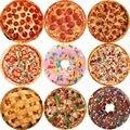 Мягкое теплое фланелевое одеяло WOSTAR для тортильи, пиццы, 200 г/м2, круглая форма, Пончик, самолет, путешествия, переносное зимнее покрывало