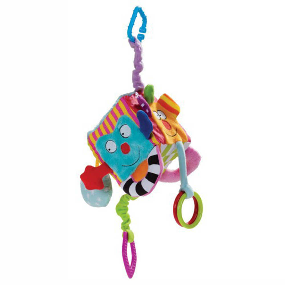 เด็กใหม่ rattles โทรศัพท์มือถือของเล่น Plush Square Block ผ้า Cube Rattles Early ทารกแรกเกิดของเล่นเพื่อการศึกษา 0-12 เดือน