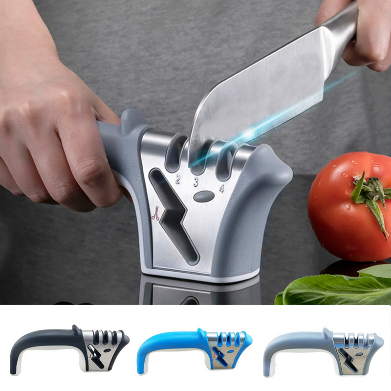 4 In 1 Beschichtet & Feine Keramik Stange Messer Schere Und Schere Schärfen System Küche Werkzeuge Verfügbar