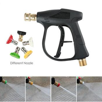 Car High Pressure Washer Water Gun Power Washer Spray With 5pcs Quick Connect Water Jet Nozzles Cleaning Tools Garden Car Washer image