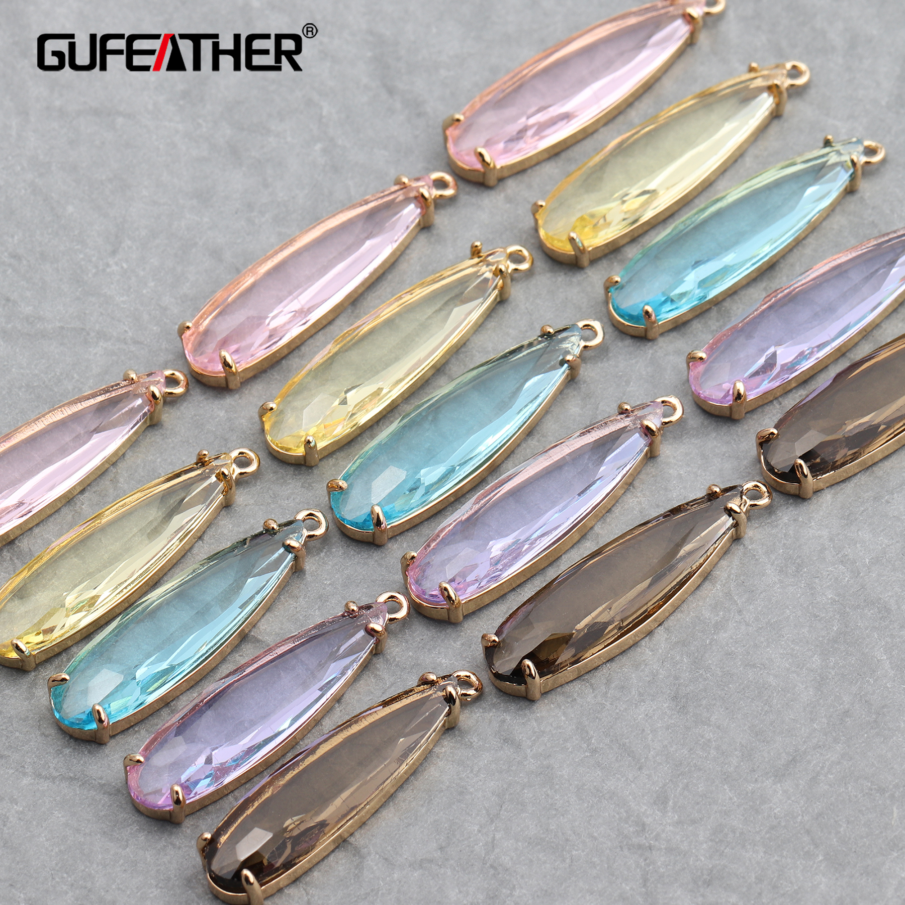 GUFEATHER M628,jewelry Accessories,hand Made,diy Glass Pendant,jump Ring,jewelry Findings,jewelry Making,diy Earring,10pcs/lot