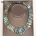 GG Jewelry 19'' Hand-Made Natural Paua Abalone Shell Necklace