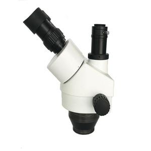 Image 5 - 3.5X  90X simul fokal trinoküler Stereo mikroskop industrial13MP HDMI VGA dijital microscopio kamera PCB çantası lehim pad mat