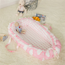 Portable Baby Nest Bed for Boys Girls Travel Bed Infant Soft Cotton Cradle Crib Baby Newborn Travel Crib YHM047
