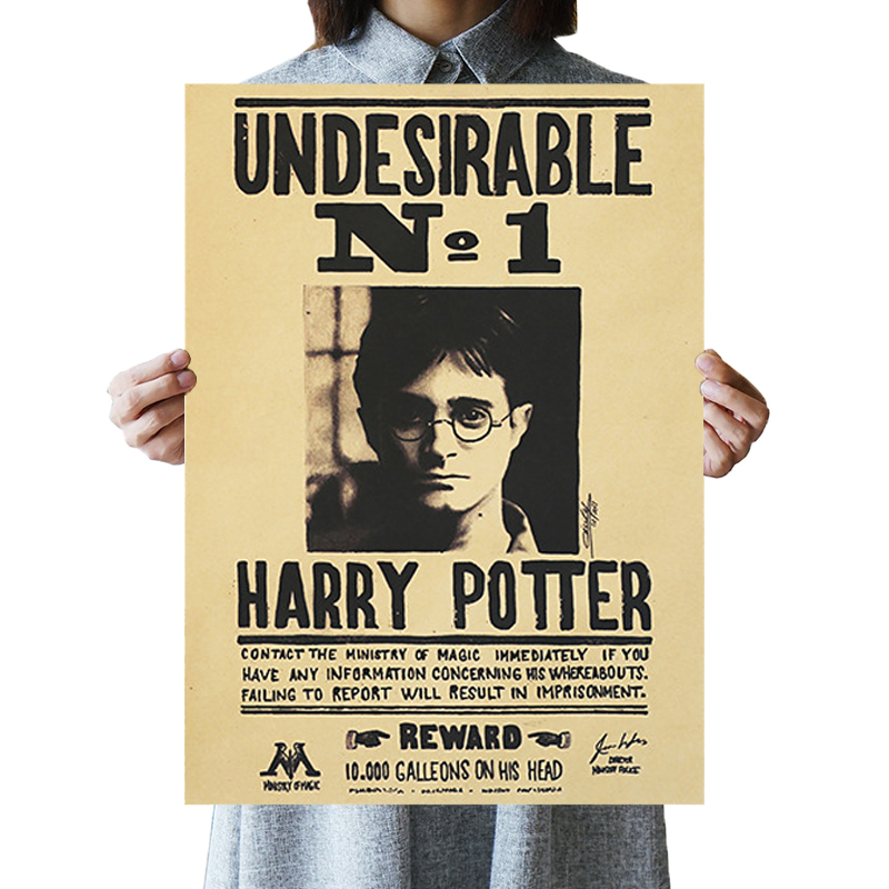 DLKKLB 50.5X35cm Undesirable No 1 Famous Novel Vintage Kraft Poster Classic Movie Wall Stickers Bar Cafe Decorative Paintings