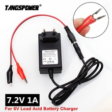 7.2V 1A Lead Acid Battery Charger For Car Motorcycle Scooter 6V Lead Acid Battery 7.4V Charger 24v 8a charger 24v lead acid battery charger output 27 6v with fan aluminum shell smart charger