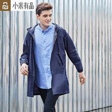 Youpin dmn à prova de vento moda longo trench coat leve e confortável respirável masculino solto com capuz inverno outerwear jaqueta fino