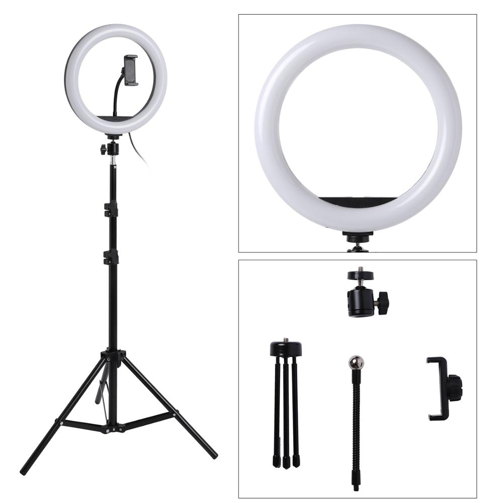 Photo LED Selfie Stick Ring Fill Light 10inch Dimmable Camera Phone Ring  Lamp With Stand Tripod For Makeup Video Live Studio| | - AliExpress