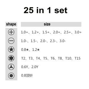 Image 4 - Juego de herramientas de reparación de teléfonos Torx, destornillador 25 en 1, PRECISIÓN DE APERTURA multifuncional para IPhone, Samsung, Huawei, Xiaomi, Tablet y PC
