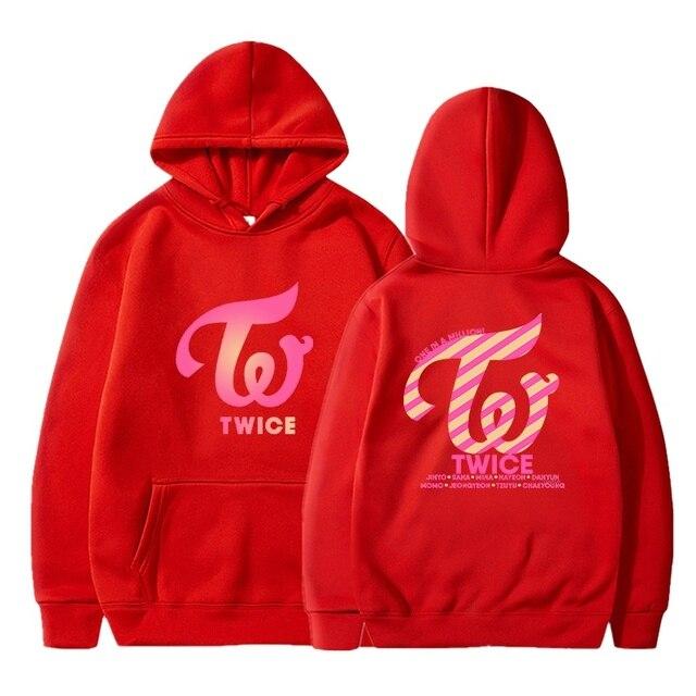 Kpop TWICE Hoodies Sweatshirts Women Men Hoodies Clothes Long Sleeve Hooded Pullover Tops Sweatshirt Streetwear Tracksuit Male 3