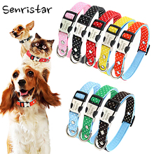 Personalized Custom Alloy Buckle Pet Dog Tag Collar For Small Medium Large Dogs Engraved Nameplate ID Pu Leather Cat