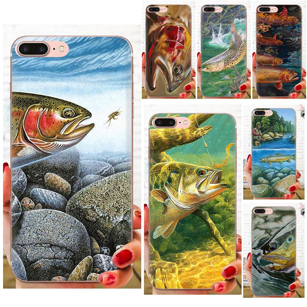 Trout Panel Painting For Samsung Galaxy Note 5 8 9 S3 S4 S5 S6 S7 S8 S9 S10 5G mini Edge Plus Lite Colourful Style